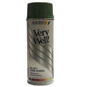 pintura spray verde reseda