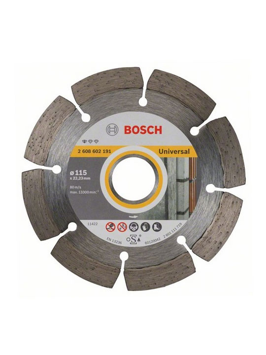 Disco tronzador diamante 115mm Bosch Universal
