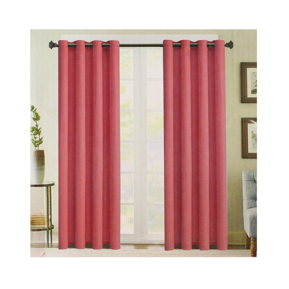 Cortina para ventana color coral 55 x 90  Cortinas