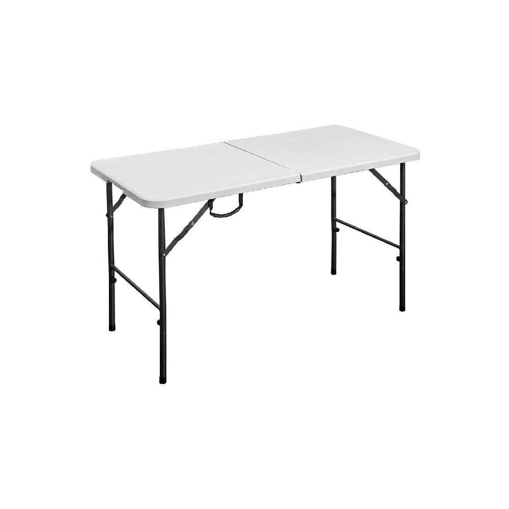 Mesa plstica plegable rectangular de 4