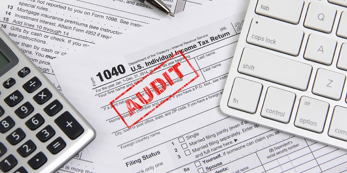 IRS tax audit papers