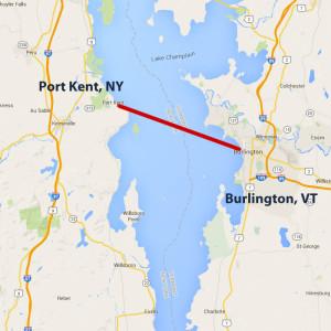 Burlington VT Port Kent NY Lake Champlain Ferries