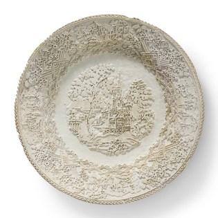 "Caroline Slotte, ""Tracing Series (7)"" 2015, reworked, second-hand ceramics, 10""."