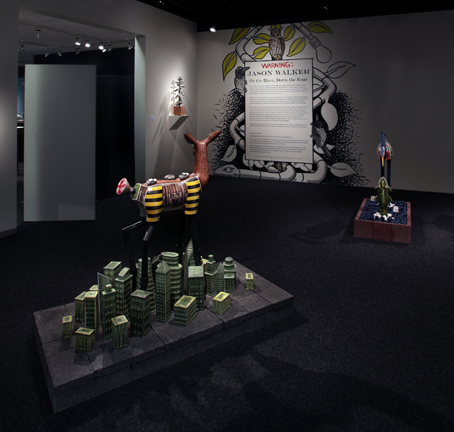 """""""Jason Walker: On the River, Down the Road"""" installation exhibition at Bellevue Arts Museum, 2014"""