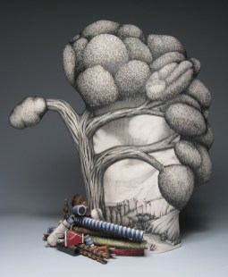 "Jason Walker, ""Flash Flood"" 2007, porcelain, 17 x 18 x 7""."