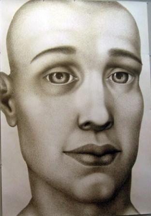 "Sergei Isupov, ""Young Man"" 2008, gouache on paper, 60 x 42""."