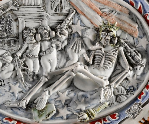 "Michelle Erickson, ""Paradise Lost"" detail, 2008, 22 x 19 x 4""."