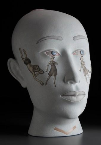 "Sergei Isupov, ""Seeds"" 2009, stoneware, 29 x 19 x 18""."
