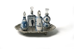 "Vipoo Srivilasa, ""Four Elements Containers"" 2012, ceramic, silver, glass, 8 x 12 x 10""."