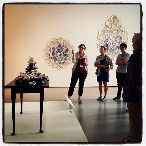 """Emily Zilber discussing Giselle Hicks """"And then it was Still II"""" in New Blue and White at the Museum of Fine Art Boston"""