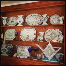 Porcelain Art in the home of Artists Mara and Roy Superior