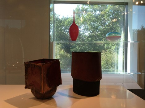 Lino Tagliapietra, Vessel, 1998, blown & cut glass, Gift of Dale & Doug Anderson | June Schwarcz, Vessels, 1995-6, funds donated by Daniel & Jessie Lie Farber MFA Boston