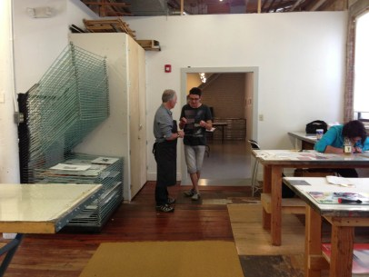 Paul Scott - Western Massachusetts - visiting Zea Mays Printmaking with Andrew Baldwin from Wales