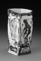 """Edward Eberle, """"Somewhere"""" 1989, porcelain, 6.5 x 3 x 3"""". (Pennington)"""