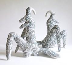 "Sergei Isupov, ""Untitled"" 1992, porcelain, 16 x 19 x 7.5""."