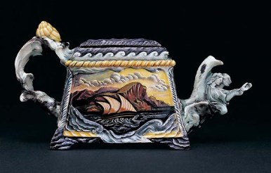 "Susan Thayer, ""Forward Motion"" 2003, porcelain, 6.5 x 12.5 x 4""."