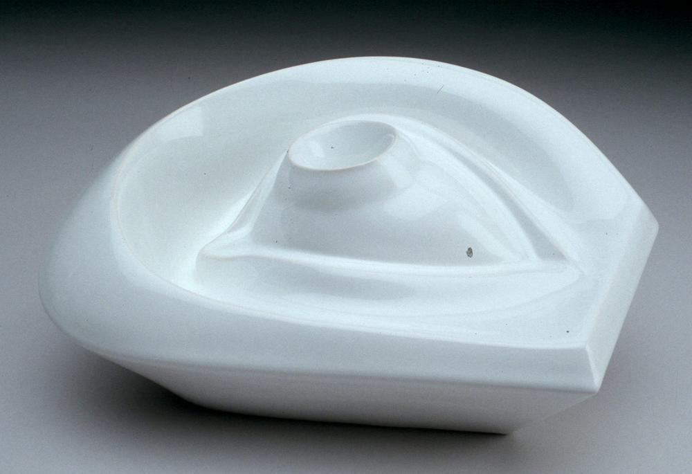 "Sergei Isupov, ""Eye"" (edition of 3), 2003, viterous china, 7 x 13 x 8.5""."
