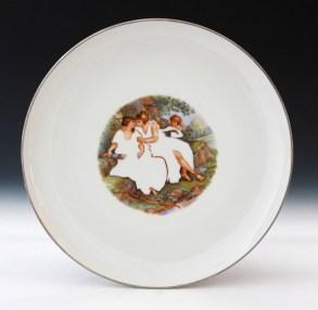 """Howard Kottler, """"Virgin Spring"""" c. 1967, porcelain, decals, lustre, 10""""."""