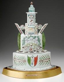 """Mara Superior, """"Italia Ti Amo Teapot"""" 2006, porcelain, 22 x 20.5 x 12""""."""
