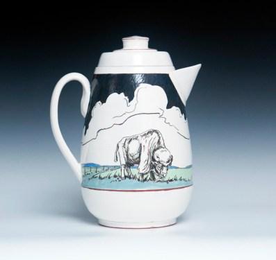 "Jessica Brandl, ""TruckINN"" 2014, terracotta, slip, clay, glaze, 9.75 x 8 x 6""."