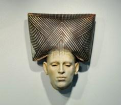 "Christina Cordov, ""Cabeza I"" 2014, ceramic, 8.5 x 8 x 5""."
