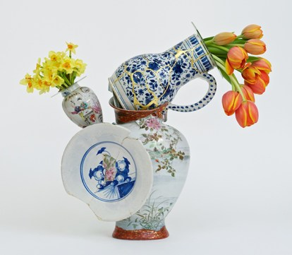 """Bouke de Vries, """"Fragmented Vase 3"""" 2015, 18th & 19th century Chinese porcelain and glass."""