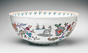 """Robin Best, """"Arcana Bowl"""" porcelain, 23.5"""". In the Permanent Collection of the Peabody Essex Museum, Salem, MA"""