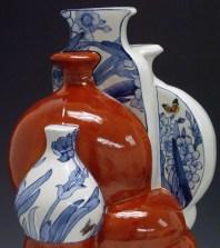 "Sin-ying Ho, ""10.11.1989 Hong Kong"" detail, 2010, porcelain, cobalt, decal, enamel, 24 x 14 x 12""."