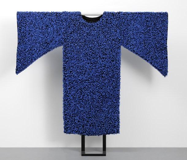 "Caroline Cheng, ""Prosperity V"" 2007, porcelain, fabric, 71 x 71""."