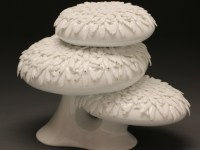 "Future Retrieval, ""Bonsai from 9 till' #2"" 2014, porcelain, 7.5 x 10.5 x 7""."