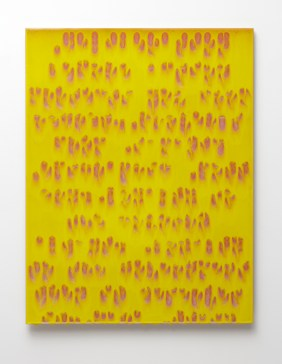 "Bobby Silverman, ""Decision Before Action"" 2011, clay, commercial tile, 36 x 28 x 1/2""."