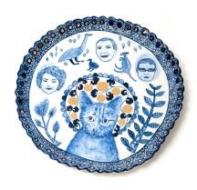 "Vipoo Srivilasa, ""Angel II"" 2014, porcelain, .5 x 10.5""."