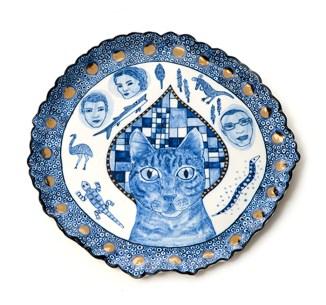 "Vipoo Srivilasa, ""Angel III"" 2014, porcelain, .5 x 10.5""."