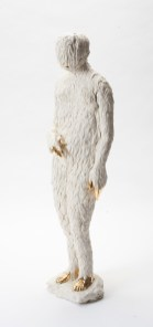 """Claire Curneen, """"Mary Magdalene"""" 2013, porcelain, gold lustre, 22.5""""."""