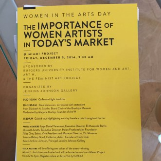 MIAMI PROJECT   The Importance of Women Artists in Today's Market   Panel Discussion