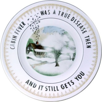 """Garth Johnson, """"Manifest Destiny (Currier and Ives - American Homestead - Spring #755)"""" 2010, Bing & Grondahl limited edition Currier and Ives porcelain plate, decal, 8""""."""