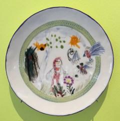 """Roosi Isupov, """"Dream of an Angel"""" 2015, porcelain, slip, glaze, 8.5""""."""