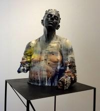 "Cristine Córdova, ""Untitled"" detail, 2015, ceramic, resin, pigments, 34 x 23 x 12""."