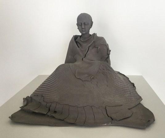 "Georges Jeanclos, ""Kamakura"" 1993, earthenware, 12 x 15 x 15""."