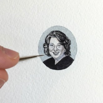 "Brooke Rothshank, ""Sonia Sotomayor"" 2016, watercolor, paper."