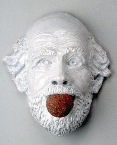 "Robert Arneson, ""Ceramic Gag No. 2"" 1991, ceramic, glaze, 13 x 11 x 7.5"""