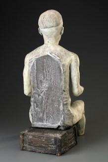"""Doug Jeck, """"Figurine"""" 1998, earthenware, 25.5 x 11 x 11""""."""