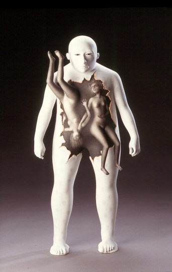 "Sergei Isupov, ""Full Moon"" 2004, porcelain, 22.5 x 11 x 5.5""."