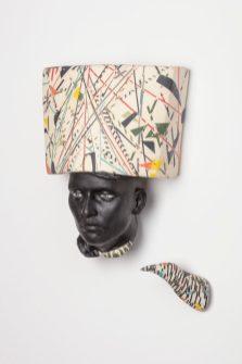 """Cristina Córdova, """"Cabeza III"""" 2018, ceramic, 13.5 x 9.5 x 4.75"""""""