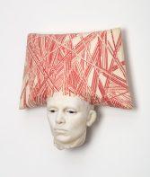 """Cristina Córdova, """"Cabeza VI"""" 2018, ceramic, 13 x 12.5 x 5""""."""