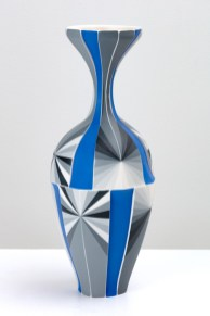 "Peter Pincus, 'Coalport Ewer, Re-imagined', 2020, colored porcelain, gold luster, 13 x 6 x 6""."