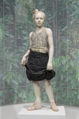 "Cristina Córdova, ""Jungla"" 2017, photographic polyptych, ceramic, resin, metal, paper, glass, plastic, wood, 78 x 18″."