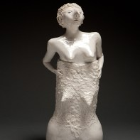 """Coille Hooven, """"Second Skin"""", 1985, porcelain, 14.75 x 6.5 x 5.5"""""""