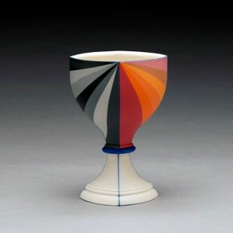 "Peter Pincus, ""Berry's Bowl 3"" 2019, colored porcelain, 6 x 4 x 4""."