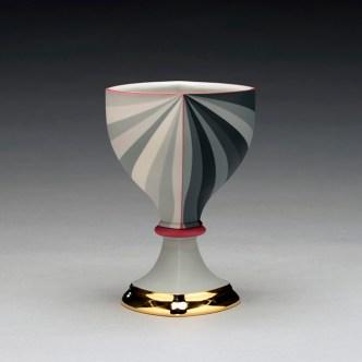 "Peter Pincus, ""Berry's Bowl 4"" 2019, colored porcelain, 6 x 4 x 4""."